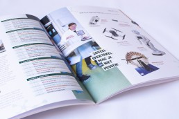 Magazine ontwerp (grafische vormgeving) voor Heutink door Annemiek Volkers